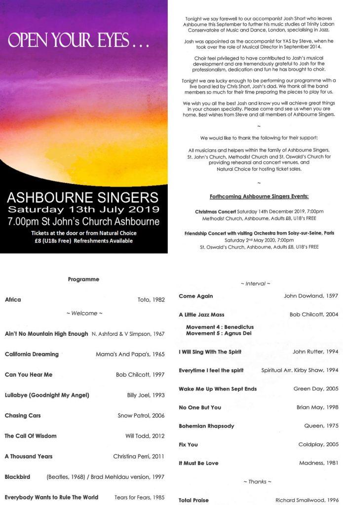 Summer 2019 Programme